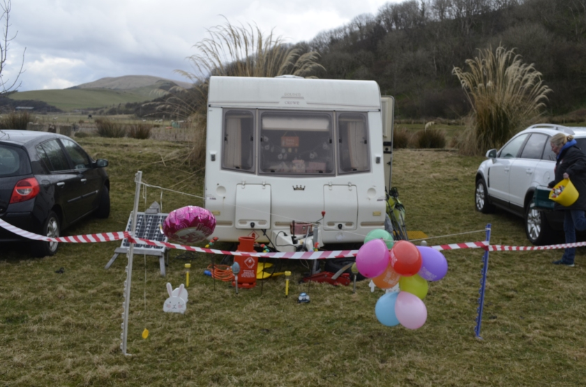 Birthday girls caravan